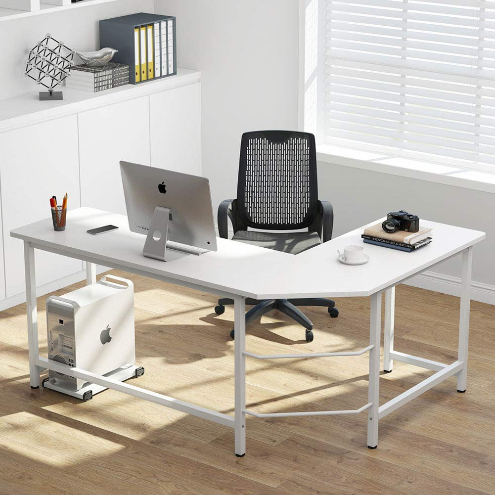 Tribesigns Modern L-Shaped Desk Corner Computer Desk PC Latop Study Ta