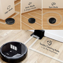 Robot Vacuum Cleaner, Max Power Suction Vacuum, Self-Charging, Smart Sensor, Remote Control Vacuum Cleans Hard Floors/Thin Carpets