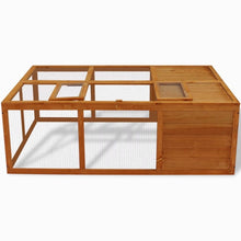 Wooden Animal Cage Outdoor Suitable for Chickens, Ducks and Farm Animals 59inch x 39inch x 20inch (L x W x H)