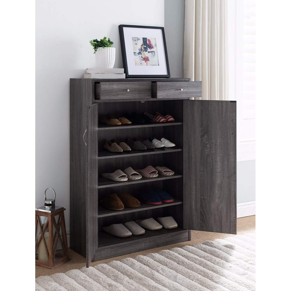 Wooden Spacious Storage Shelf Shoe Cabinet