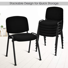 Set of 5 Conference Chair Elegant Design Stackable Office Waiting Room Guest Reception