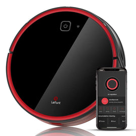 Robot Vacuum Cleaner,1800Pa Strong Suction, Wi-Fi Connectivity,Good for Pet Hair,Carpets,Hard Floor,Self-Charging