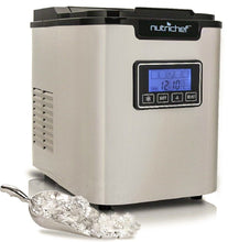 Digital Ice Maker Machine - Portable Stainless Steel, Stain Resistant Countertop w/Built-In Freezer, w/Easy-Touch Buttons(Silver)