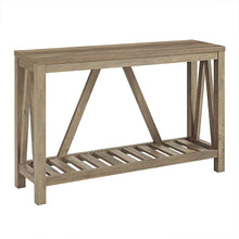 New 52 Inch Wide A-Frame Entry Table - Rustic Oak Finish