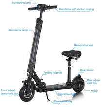Foldable Electric Scooter, Adjustable Kick Scooter, 12.5 Mile Range of Riding w/ 5.2Ah 36V Lithium Battery, Suitable for Riders Under 220lbs
