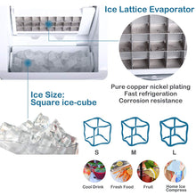 Ice Maker Countertop with 40lbs/Day, 24pcs Ice Cube Produce in 15 Minutes, Compact Ice Make Machine Manual Water Intake, Stainless Steel