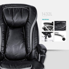 Smugdesk High Back Executive Office Chair with Thick Padding Headrest and Armrest Home Office Chair with Tilt Function, Black