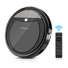 Robot Vacuum Cleaner, Powerful Suction Tangle-Free, Slim Design, Automatic Self-Charging Robotic Vacuum for Pet Hair,Hard Floor and Carpet (Black)
