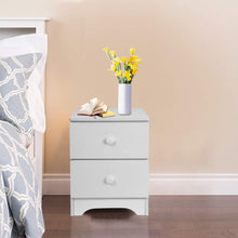 Bedside Table with 2 Drawers, Wooded End Table Bedside Cabinet, Home Storage Unit, Nightstand Lamp Desk for Bedroom White