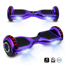 "6.5"" inch  Electric Smart Self Balancing Scooter with Built-in Wireless Speaker LED Wheels and Side Lights"