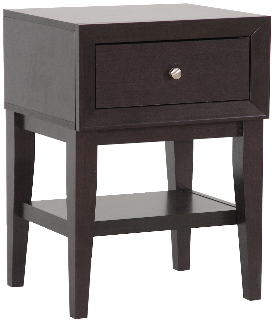 Gaston Modern Accent Table and Nightstand, Brown