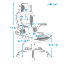 CAMANDE Gaming Pu Leather Office Chair Racing Style Swivel Headrest & Lumbar Support