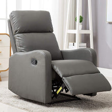 Chair Contemporary Leather Recliner Chair for Modern Living Room Classic Grey