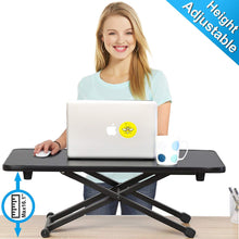 Height Adjustable Standing Desk Gas Spring Riser Desk Converter for Dual Monitor Sit to Stand in Seconds FSD108001MB