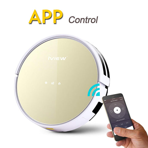 WiFi Smart Robot Vacuum Cleaner Works with Alexa, Google Assistant, Cleaning Robot with Sweep & Mop