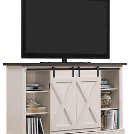 Wrangler Sliding Barn Door TV Stand, Off-White
