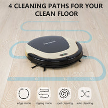 Robot Vacuum Cleaner, High Suction Automatic Self-Charging, Ultra Slim Designed Anti-Drop Floor Sweeper Robot, Super Quiet