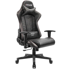 Camande Gaming Chair Racing Office Chair High Back Leather Computer Desk Chair Adjustable Swivel Manage Chair with Headrest and Lumbar Support (Black)