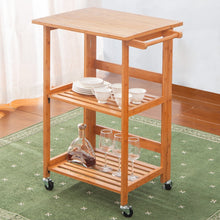 Concord Series Home Kitchen Island Storage Cart with Wheels (Folding Nature)