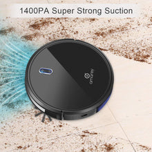 Robot Vacuum, 1400PA Super Suction, 2.7inch Super Thin, 100mins Long Lasting,Self-Charging, Timing Function, Multiple Cleaning Modes