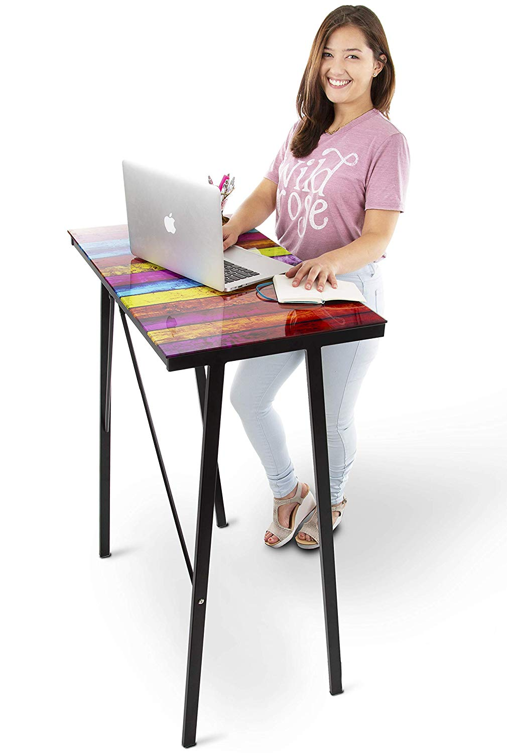 Modern Home Office Standing Desk Workstation with Storage Cubbies! - 47.5