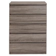 Scottsdale 5 Drawer Chest, Black Wood Grain
