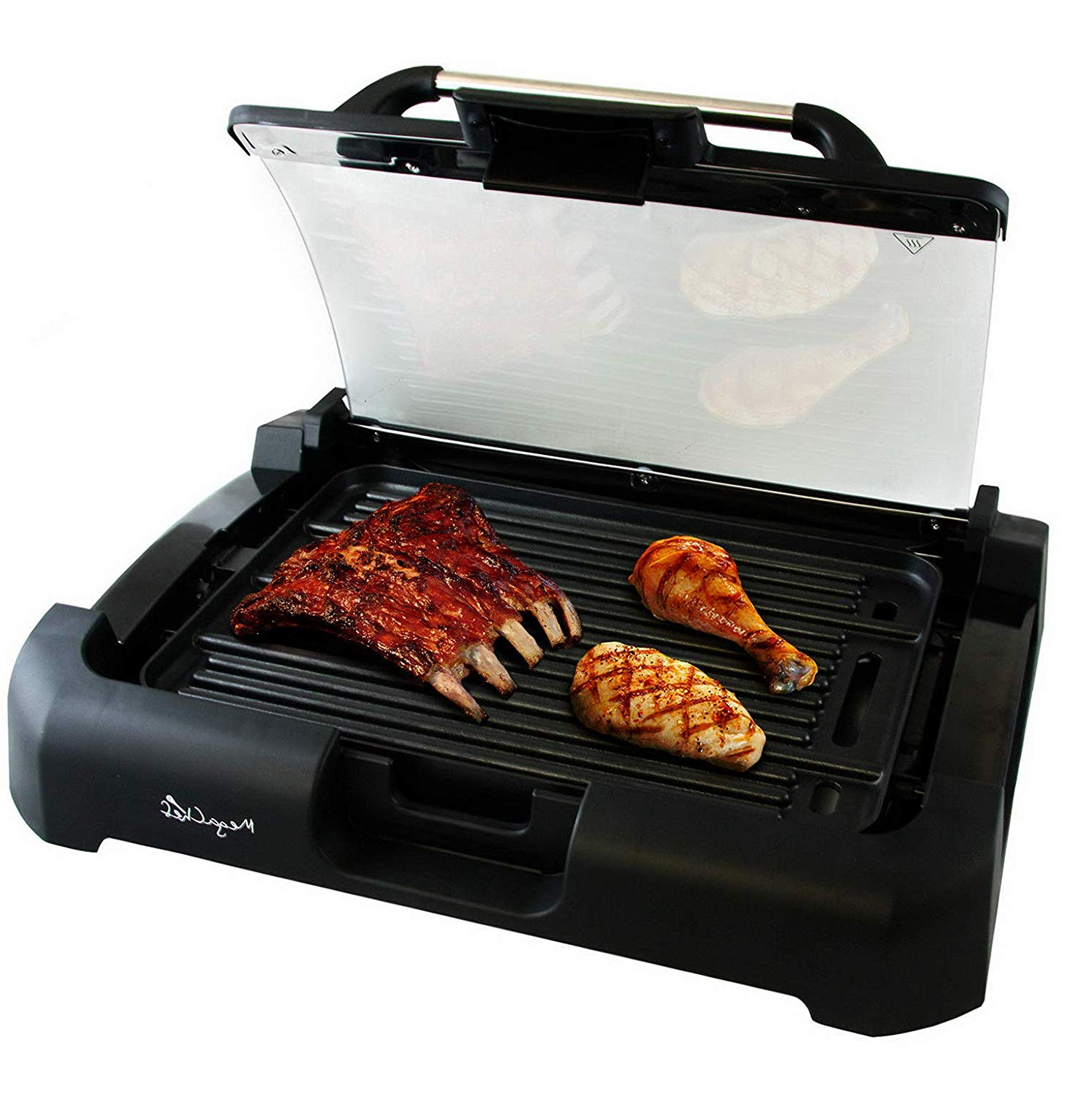 \Smokeless Indoor Electric Grill 1800 Watts Non-Stick BBQ Removable w/Glass Lid | Model GRLLST - 262