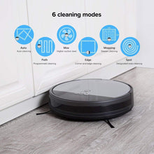 V8s Robotic Vacuum Cleaner with Floor Mopping, 0.75L Dustbin, LCD Display and Multi-Task Schedule Automatic Mop Robot