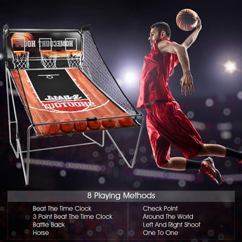 Indoor Basketball Arcade Game Sport Double Triple Electronic Hoops Shot 2 Player 3 Player W/ 4,6 Balls (3 Player)