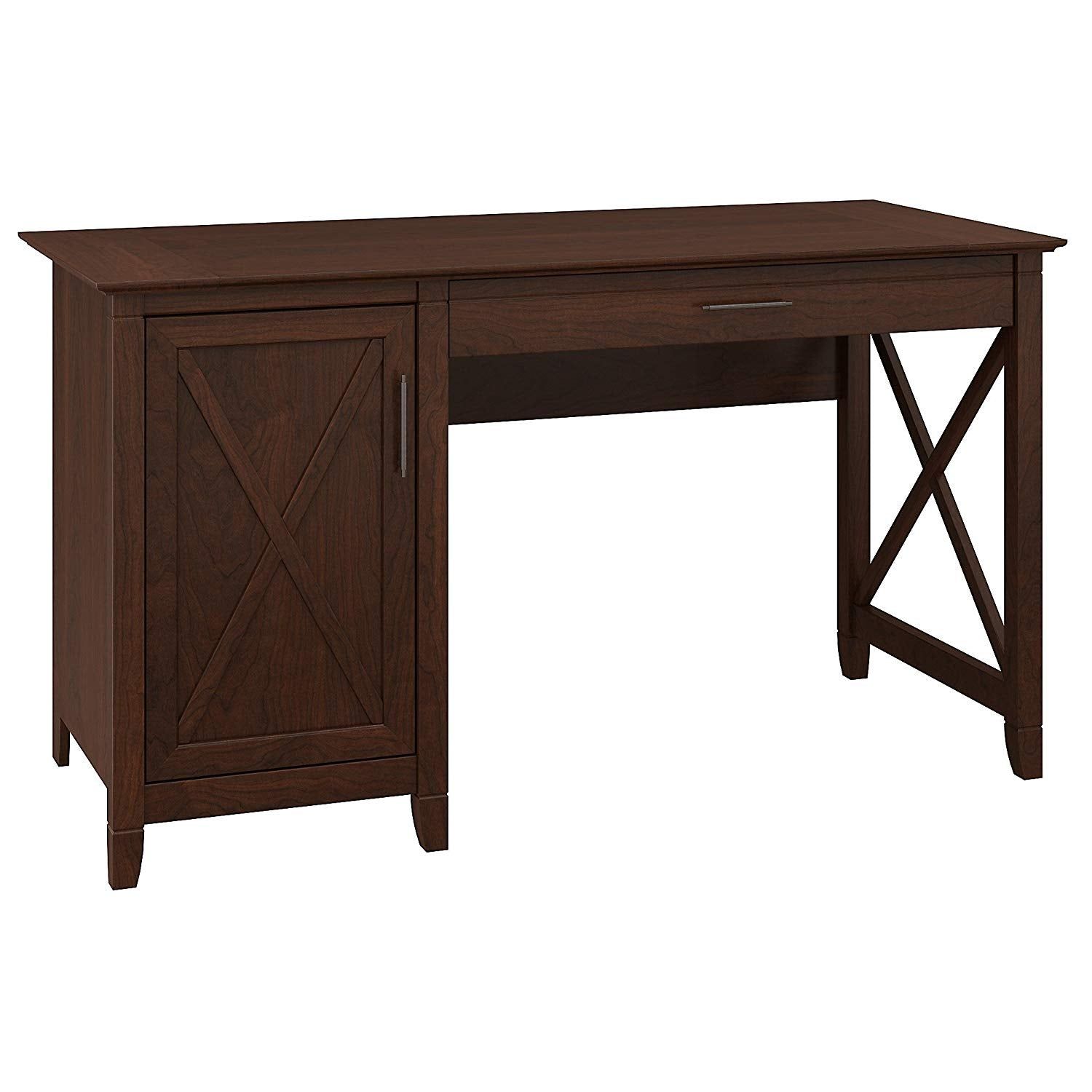Key West Collection 54W Single Pedestal Desk in Washed Gray