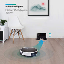 Robot Vacuum Cleaner Sweeping and Cleaning Dust and Pet Hair, 1800Pa Strong Suction and App Control, Route Planning on Hard Floor