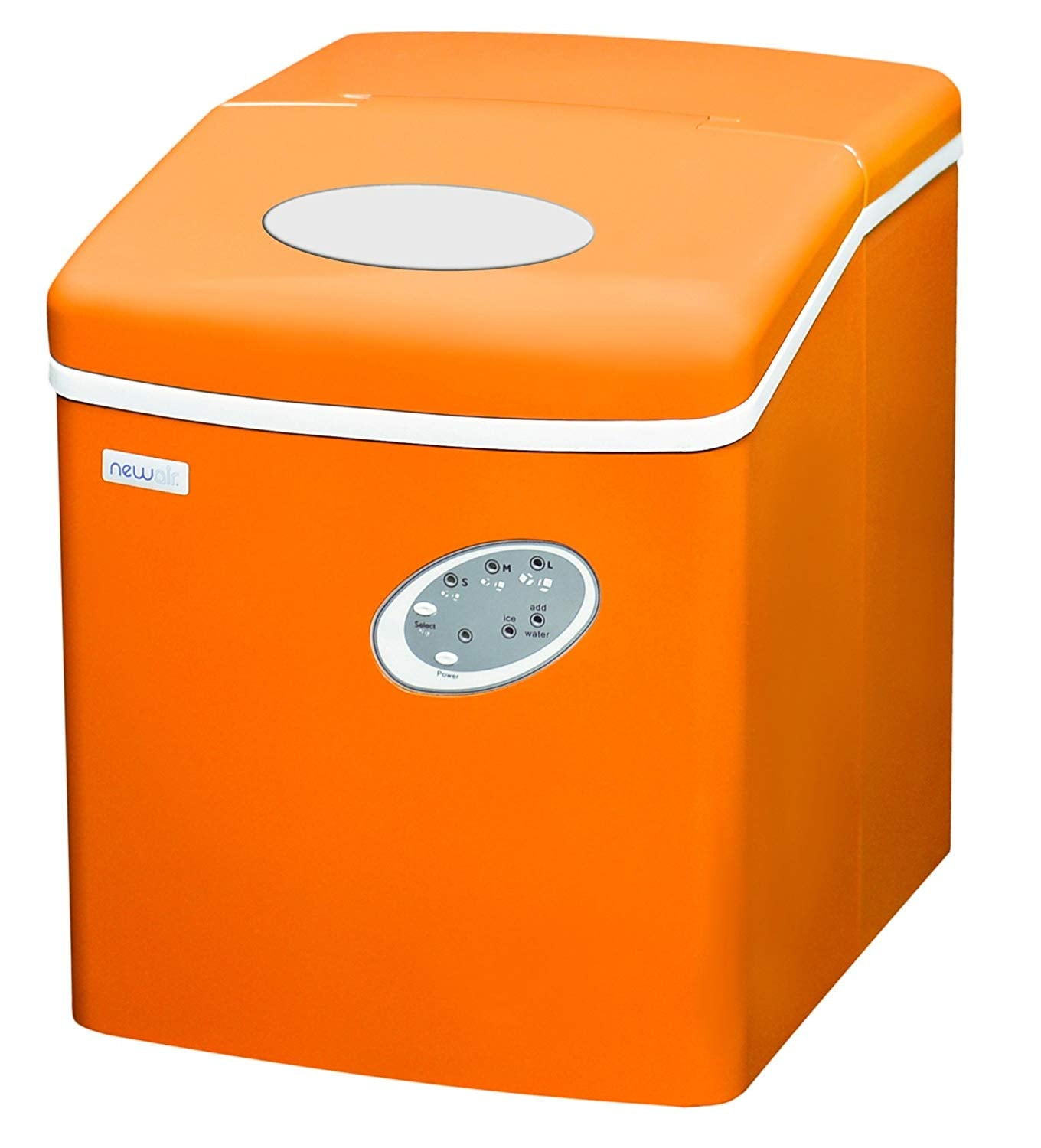Portable Ice Maker 28 lb. Daily, Countertop Compact Design, 3 Size Bullet Shaped Ice, AI-100VO, Orange