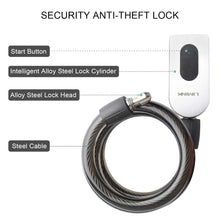 39.4 inch Waterproof Heavy Duty Bicycle Chain Lock, APP Control Wireless High Security Anti-Theft Smart Locks Chain Universal for Motorcycle/Gate