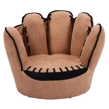 Kids Sofa Chair, Baseball Glove Shaped Fingers Style Toddler Armchair Living Room Seat, Children Furniture TV Chair