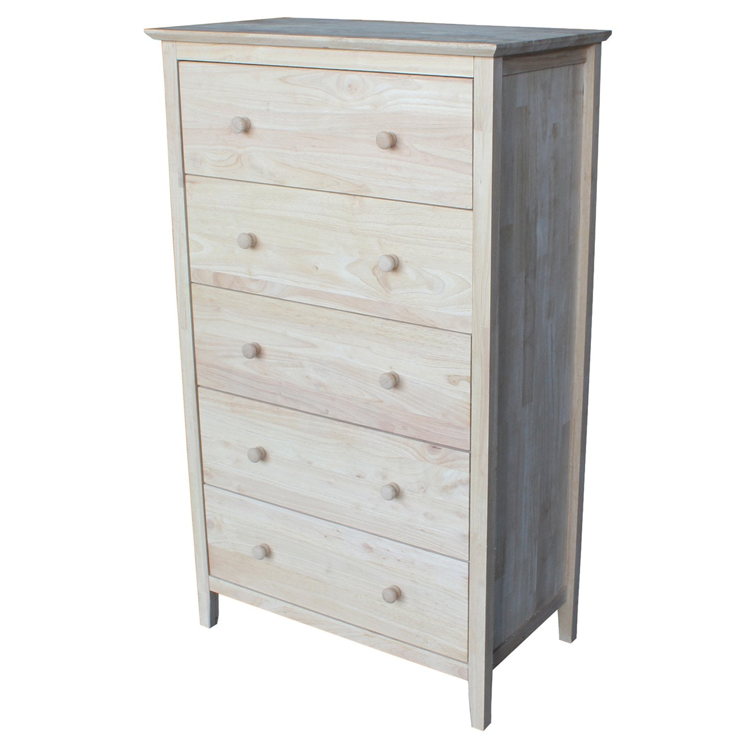 Chest with 5 Drawers, Unfinished