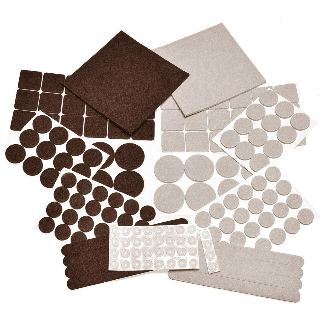 Self Adhesive Pads with Transparent Noise Reduction Bumpers. Best Floor Protectors for Your Hardwood & Laminate Flooring. (166 Pcs)