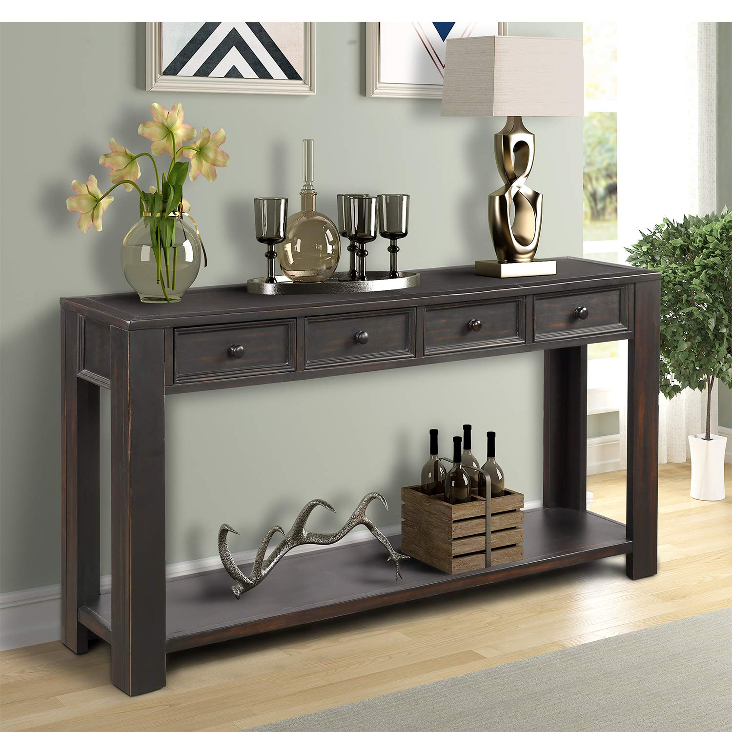 Console Table for Entryway Hallway Easy Assembly 64