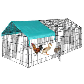 Camande Chicken Coop Chicken Cage Pens Crate Rabbit Cage Enclosure Pet Playpen Exercise Pen