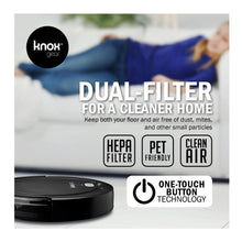 Robot Vacuum Cleaner and Mop,Dual Rotating Brushes,Smart Anti Fall Sensor, 90 Minute Run Time - 2 x Bonus Side Brushes and 2 x HEPA Filters