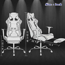 PC Gaming Chair Ergonomic High-Back Office Chair Desk Chair Executive PU Leather Racing Rolling Swivel,Chair with Lumbar Support