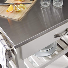 Vineyard Stainless Steel Top Kitchen Cart