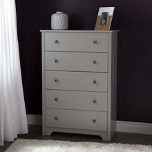 5-Drawer Chest, Soft Gray