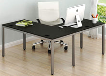 "Home Office 55""x60"" Large L Shaped Corner Desk, Espresso"