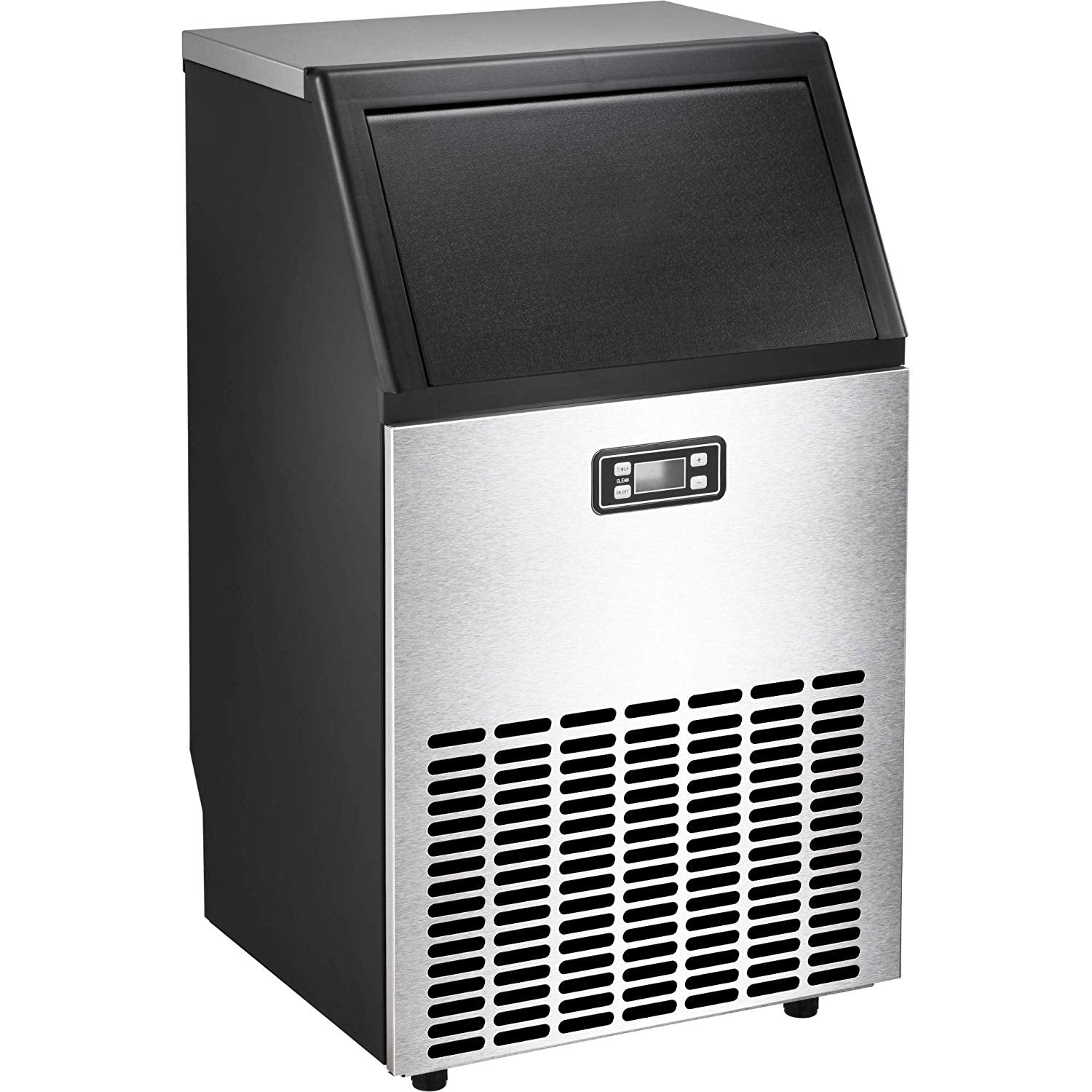 Stainless Steel Ice Maker Machine for Countertop - Makes 100Lbs of Ice Per 24Hours,Ideal Ice for Restaurant/Bar/Coffee Shop with Ice Shovel