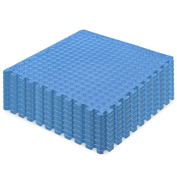24-Piece Puzzle Exercise Mat EVA Foam Interlocking Tiles