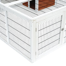"64"" Wooden Outdoor Rabbit Hutch Playpen With Run And Enclosed Cover"