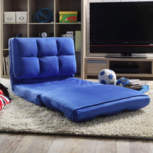 Comfy Microsuede Versatile Modern Recliner Couch Seat Bed/Blue