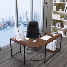 Large Modern L-Shaped Computer Desk Corner Laptop PC Workstation Writing Table Home Office Furniture Metal Wooden Crafting Desks