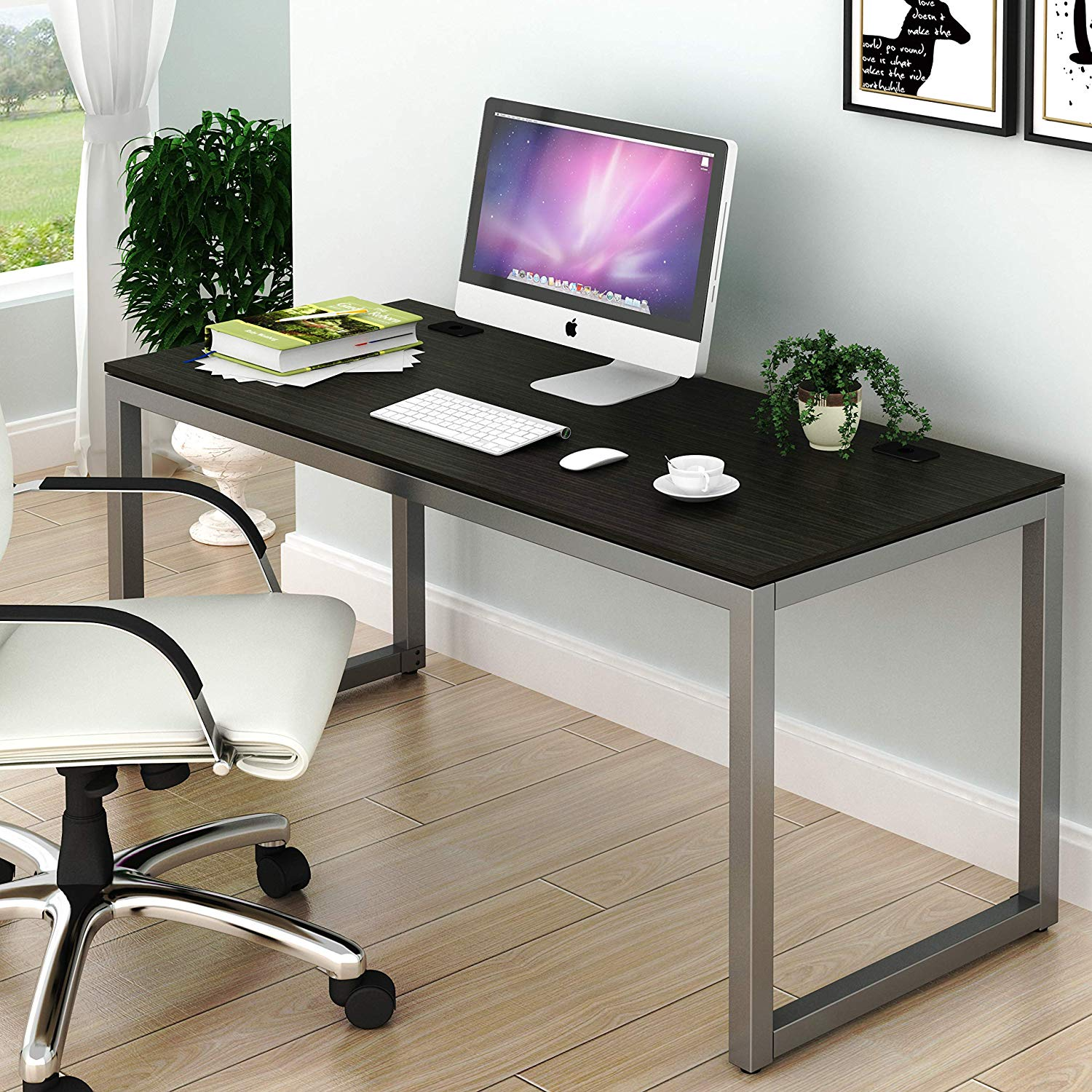 Home Office 55-Inch Large Computer Desk, Espresso