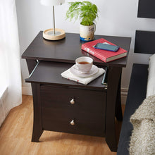 Contemporary Kassio Nightstand, Espresso